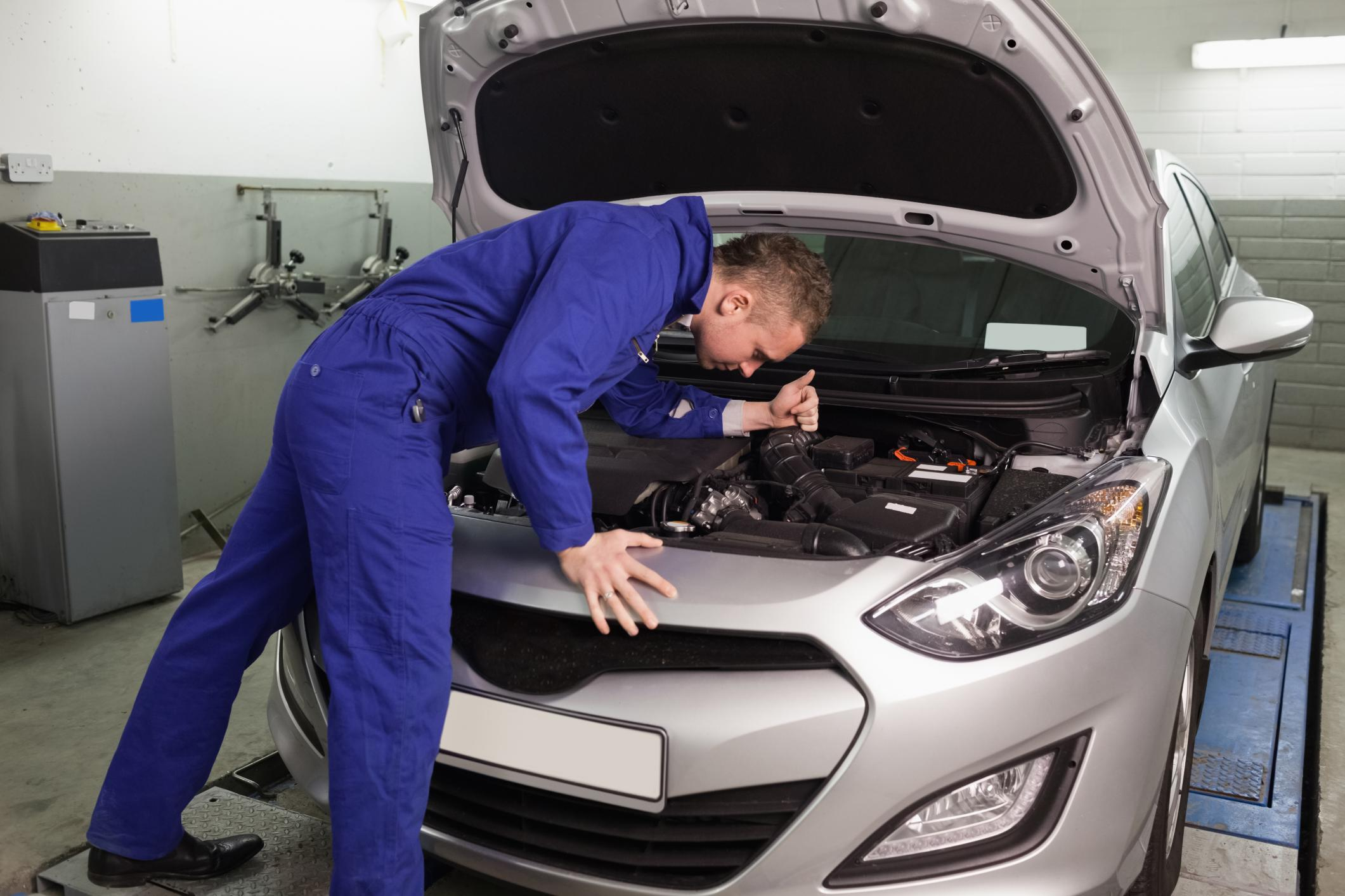 This is a picture of an on-site vehicle repair.