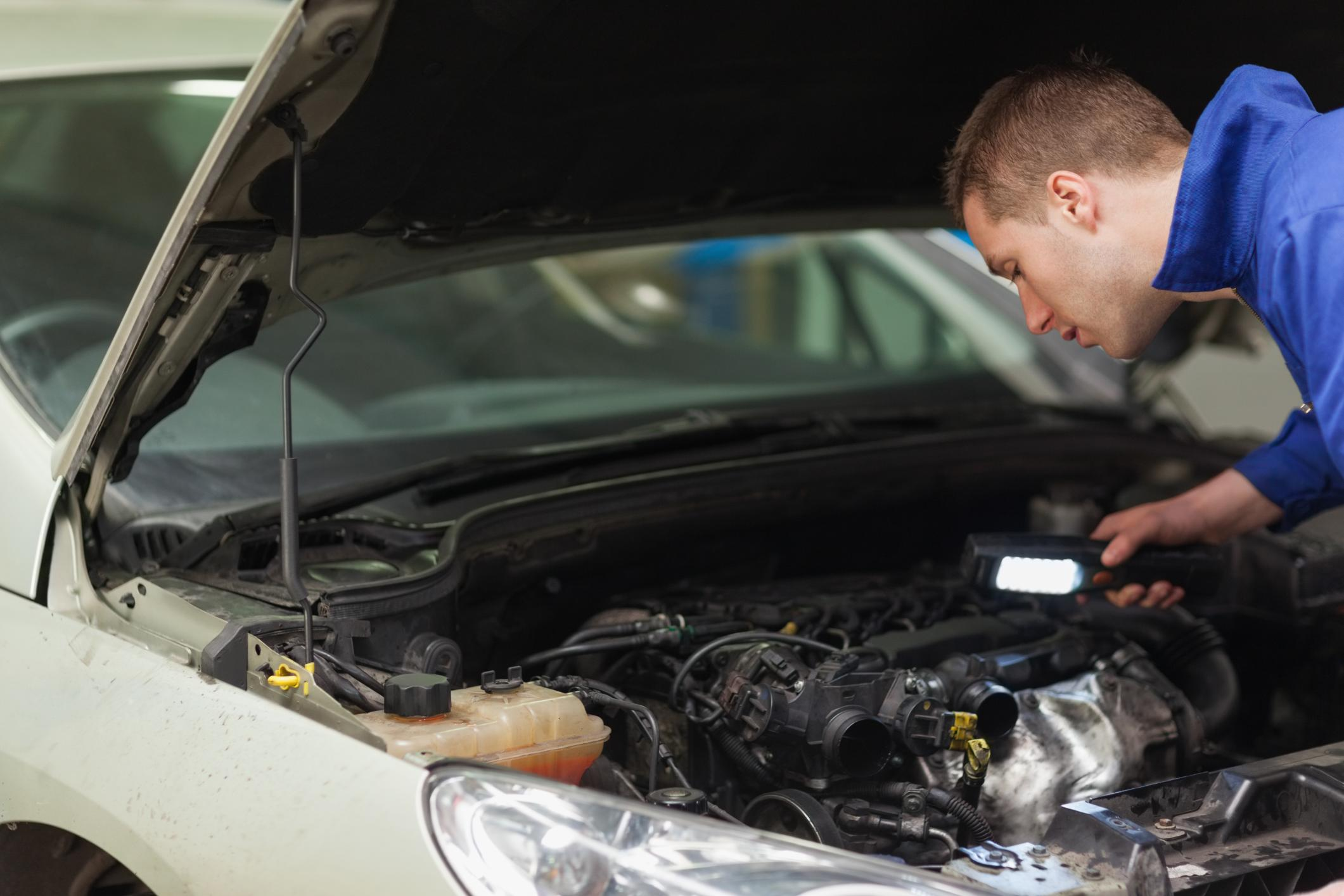 This is a picture of an on-site vehicle repair service.